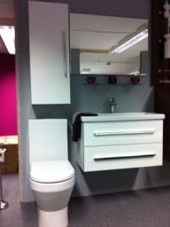Bauhaus Bathroom Furniture, HIB Mirror and Crosswater Taps