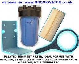 pleated sediment filter unit