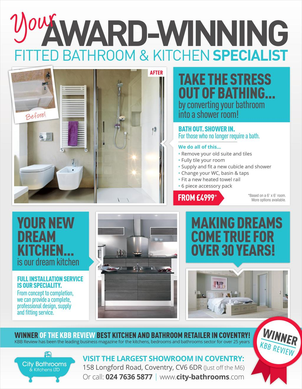 CITY BATHROOMS AND KITCHENS LTD in 158 LONGFORD ROAD;LONGFORD ...