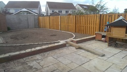 retaining wall and patio design by Aspects of Land