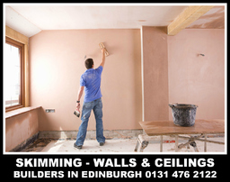 PLASTERERS IN EDINBURGH, SKIMMING, ROUGH CASTING