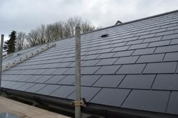 Man made slate roof