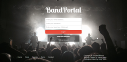 Website design for BandPortal