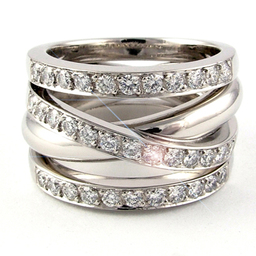 Unique Right-Hand Diamond Ring
