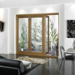 Nu-Vu Oak External Folding Sliding Doors