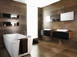 Bath Tile Design Photos With Shelving Hanging