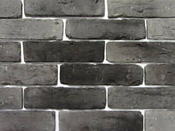 Old Graphite Brick Feature Wall Tile