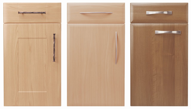 Unique Beech Shaker Kitchen Doors Cabinets Ideas B Q Throughout Inspiration
