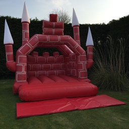 Red Turreted Bouncy Castle