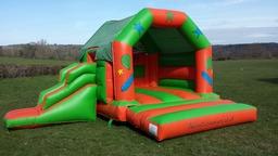 Green & Orange Slide Castle
