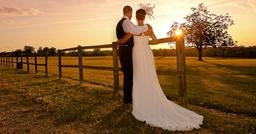 Knebworth House Wedding Sunset