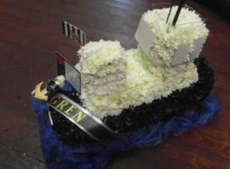 Funeral tribute tug boat £125