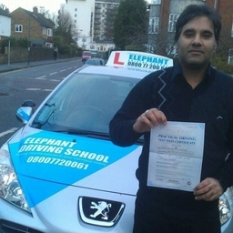 Congratulation to Haroon Chaudhry from Sutton, passing his test on his first attempt.