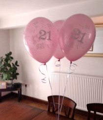 21st Birthday Latex Balloon Bouquet