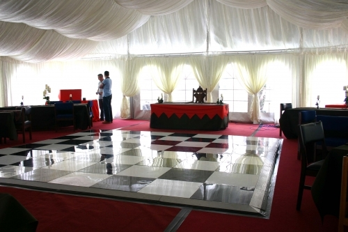 Portable dance floors are available to buy from Gala Tent & Gala Tent Ltd Unit 10 Farfield Park Manvers Rotherham South ...