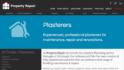Property Repair - Plasterers in Edinburgh
