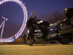 Courier bike in London