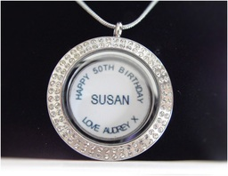 Personalised Backplate for Floating Lockets