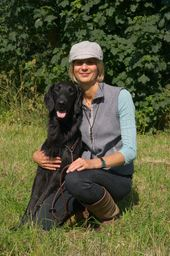 Ali & her Flatcoated Retriever