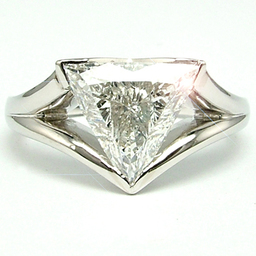 Unique Triangle Diamond Ring