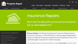Insurance Claims Repairs Experts based Edinburgh
