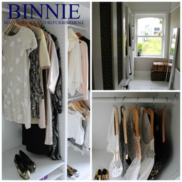 A recent walk in wardrobe project.