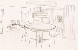 We use sketches to help clients visualised rooms before investing in furniture