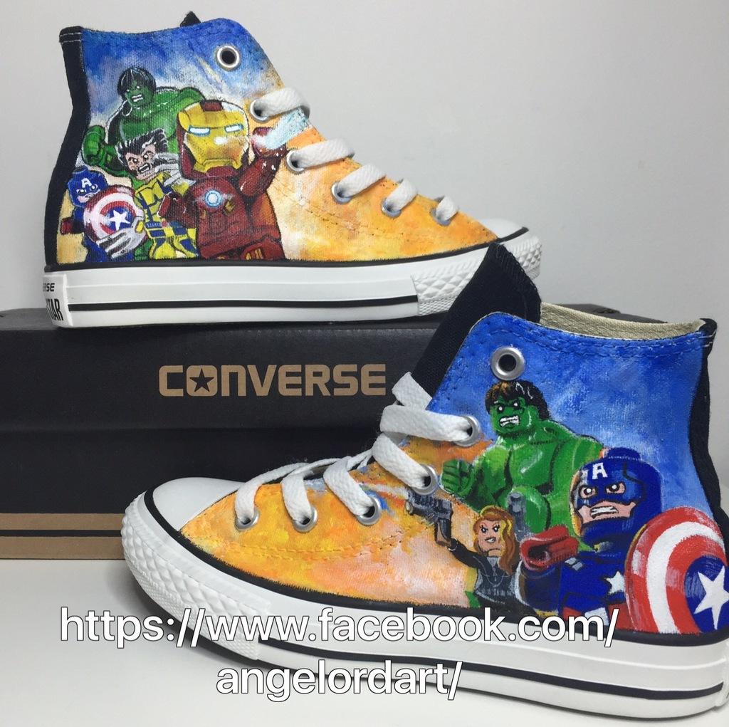 c772016435b4 ... authentic custom painted lego marvel converse bd24b 88186 ...