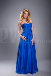 blue-sweetheart-chiffon-bridesmaid-modest-dress