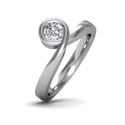 Infinity engagement ring with diamond