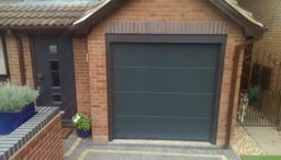 Anthracite L Ribbed Sectional Door With Front Door