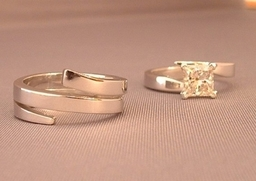 Interlocking Wedding and Engagement rings designed and Handmade by Phillip Godfrey