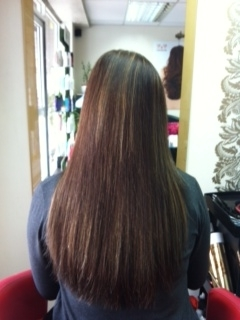 F hair after used 80 extensions of 17''