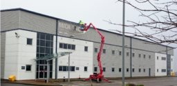 Commercial Gutter Cleaning Using MEWP's