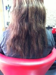 F hair before