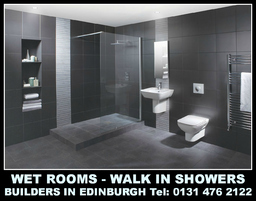 Wetrooms, shower rooms, Edinburgh Builders