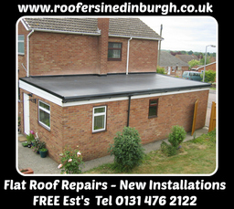 Flat Roof Felt Repairs, Roofers In Edinburgh