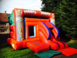 Large outdoor scooby doo castle with slide