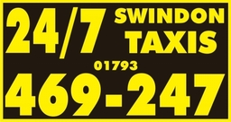 24/7 Swindon Taxis Door Signs