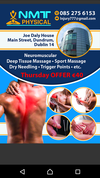 Sport Massage therapy -Deep Tissue Masage -Dry Needling