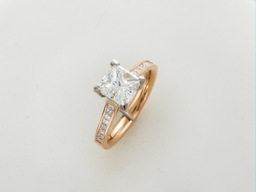 Bespoke engagement ring.Pink gold platinum ,1.55ct