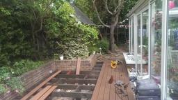 Landscape gardener during the job.