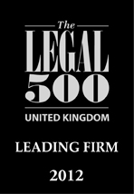 Legal 500 Uk Leading Firm 2012