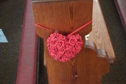 Pew End Rose Heart