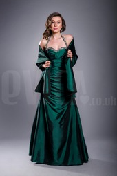 halter-dark-green-prom-ball-gown