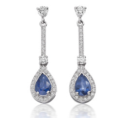 Avanti sapphire & diamond drop earrings