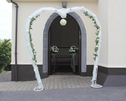 Rose Arch with silk roses