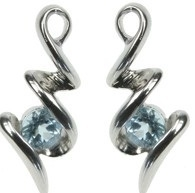 Sterling Silver and Blue Topaz