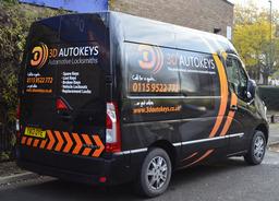 3D Autokeys Nottingham professional van
