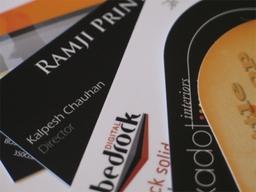Laminated & Round Cornered Business Cards